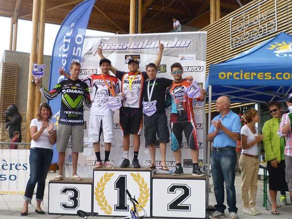 Maxiavalanche Orcieres podium