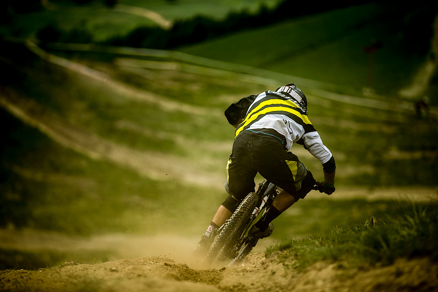 at the third round of the Enduro World Series, Les 2 Alps, France