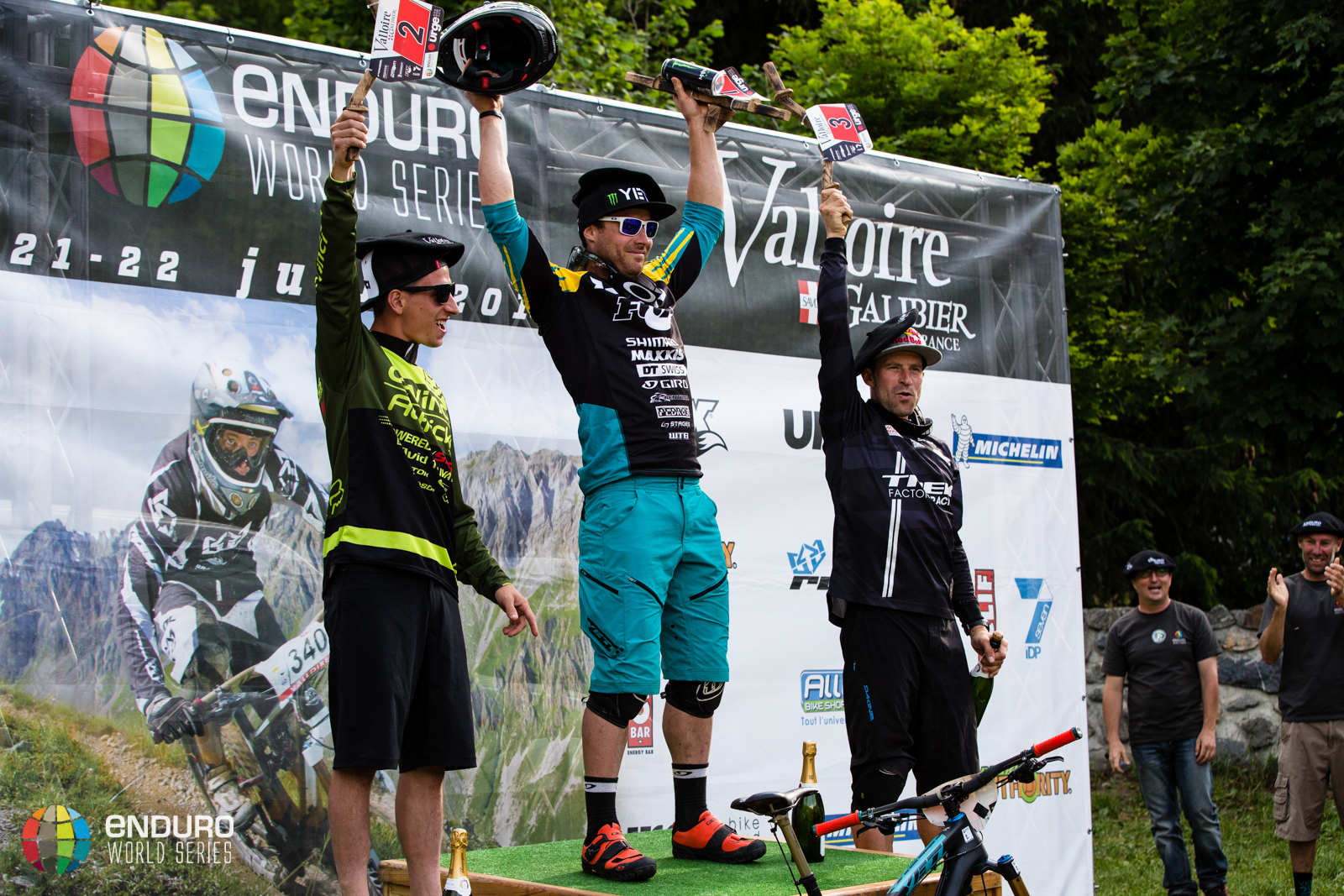 Mens podium, EWS round 3 2014, Valloire. Photo by Matt Wragg