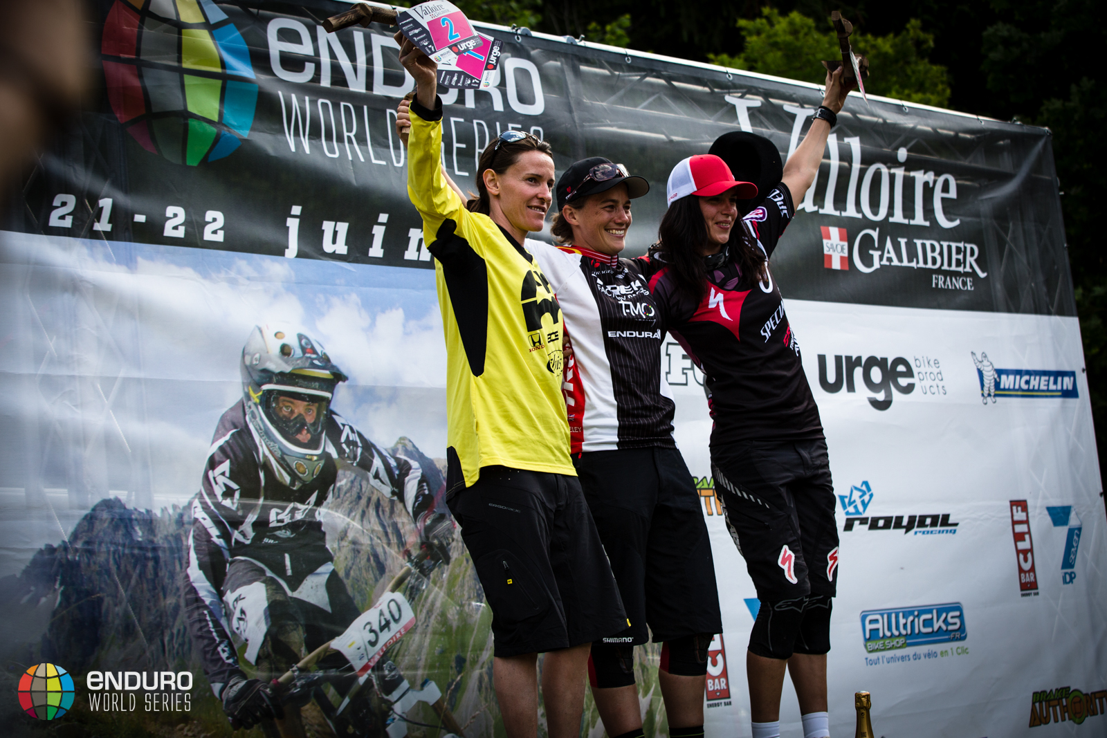 Womens podium, EWS round 3 2014, Valloire. Photo by Matt Wragg